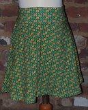 Zwierige rok retro groen maat 5 jaar (110)_
