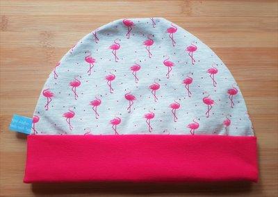 Muts met rand flamingo
