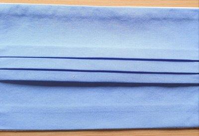 Mondmasker effen lichtblauw met elastiek