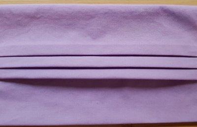 Mondmasker effen lila met elastiek