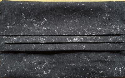 Mondmasker zwart gespikkeld