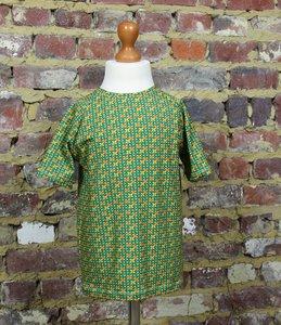 T-shirt retro groen maat 6 jaar (116)