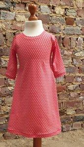 A-lijn jurkje daisy rood maat 5 jaar (110)