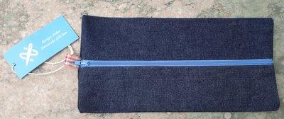 Pennenzak jeans/geruit