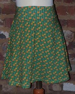 Zwierige rok retro groen maat 5 jaar (110)